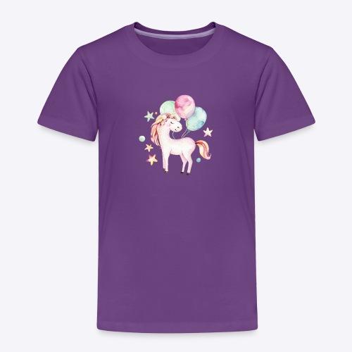 Unicorn with Baloons Mug - Toddler Premium T-Shirt