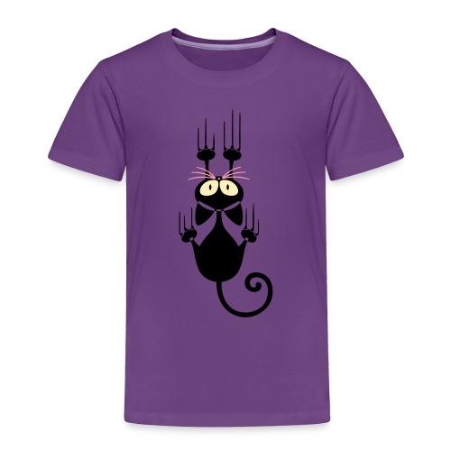 Funny Pets - Scratching Cat - Toddler Premium T-Shirt