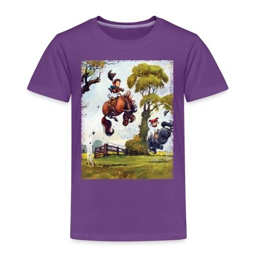 PonyRodeo Thelwell Cartoon - Toddler Premium T-Shirt