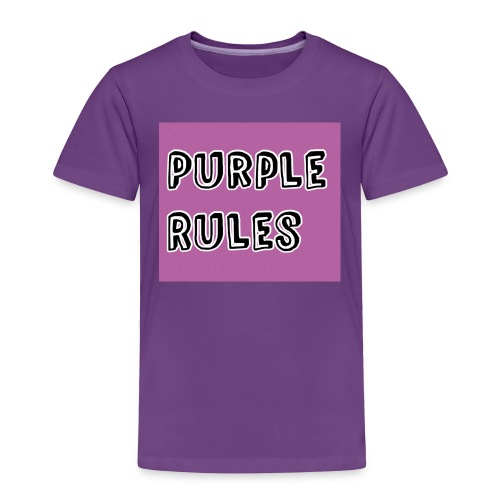 Girls Purple Rules Shirt - Toddler Premium T-Shirt