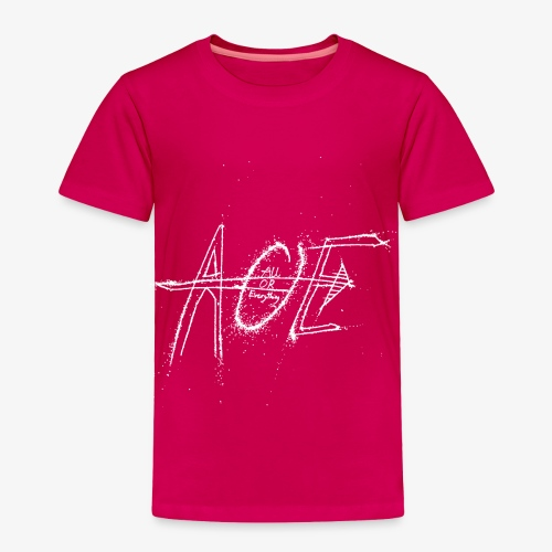 AOE Logo M1 White - Toddler Premium T-Shirt