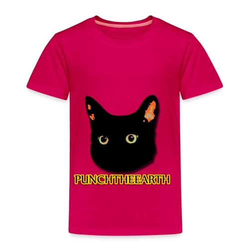 PunchTheEarth Cat with Text - Toddler Premium T-Shirt
