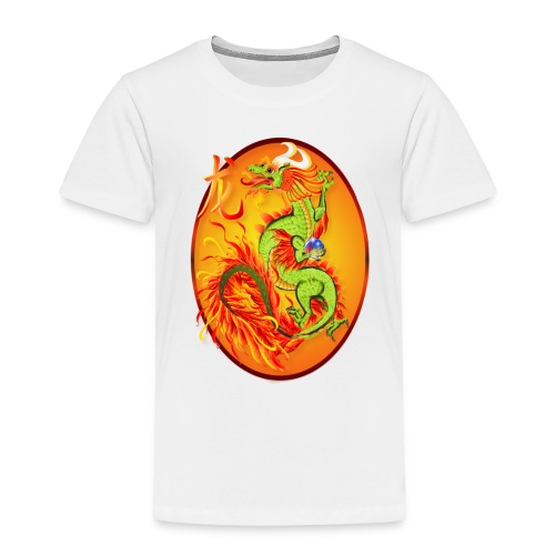 New Year Dragon and Symbol Oval - Toddler Premium T-Shirt
