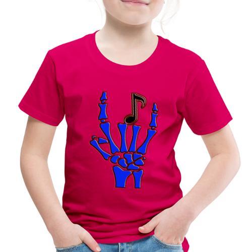 Rock on hand sign the devil's horns - Toddler Premium T-Shirt