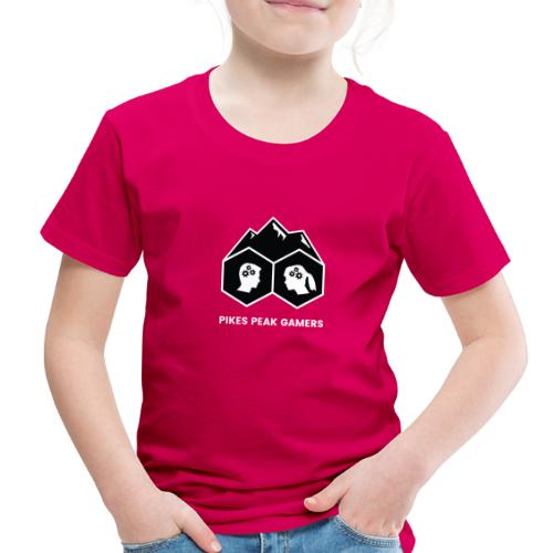 Pikes Peak Gamers Logo (Solid Black) - Toddler Premium T-Shirt