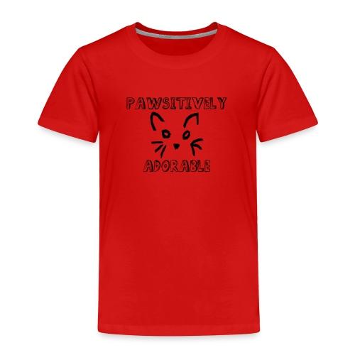 Pawsitively Adorable - Toddler Premium T-Shirt