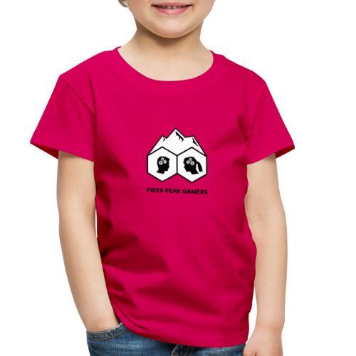Pikes Peak Gamers Logo (Solid White) - Toddler Premium T-Shirt