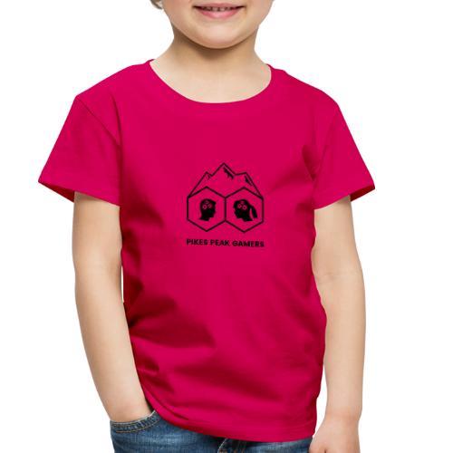 Pikes Peak Gamers Logo (Transparent Black) - Toddler Premium T-Shirt