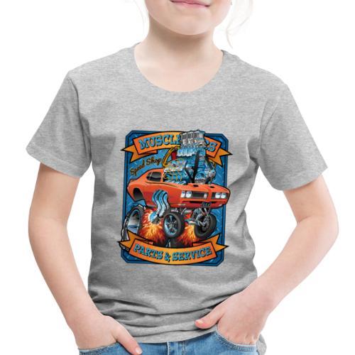 Classic Sixties Muscle Car Parts & Service Cartoon - Toddler Premium T-Shirt