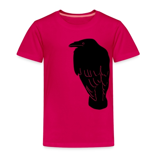 raven crow gothic bird wings dark fly - Toddler Premium T-Shirt