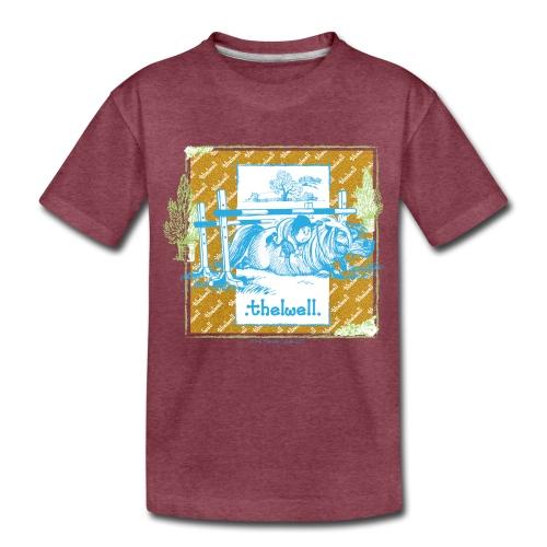 PonyFall blue yellow Thelwell Cartoon - Toddler Premium T-Shirt