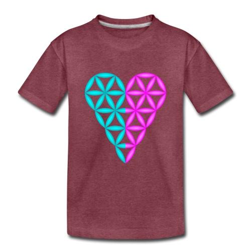 Dual Heart - Heart of Life - 3D. - Toddler Premium T-Shirt