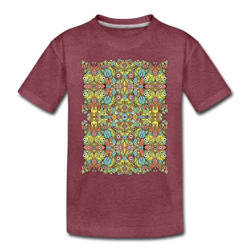 Odd creatures multiplying in a symmetrical pattern - Toddler Premium T-Shirt