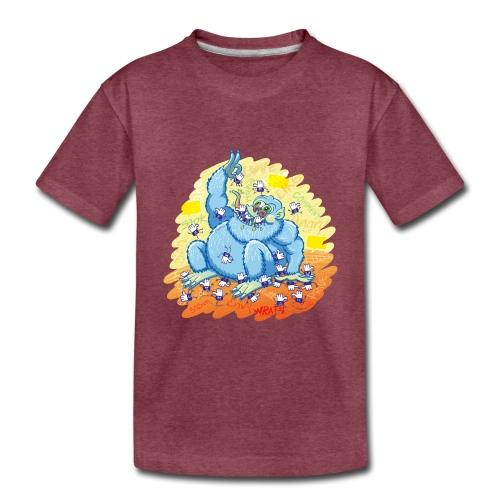 Voracious social networks' monster gobbling likes - Toddler Premium T-Shirt