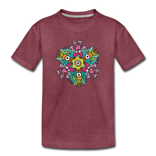 Doodle art in the form of crazy hungry monsters - Toddler Premium T-Shirt