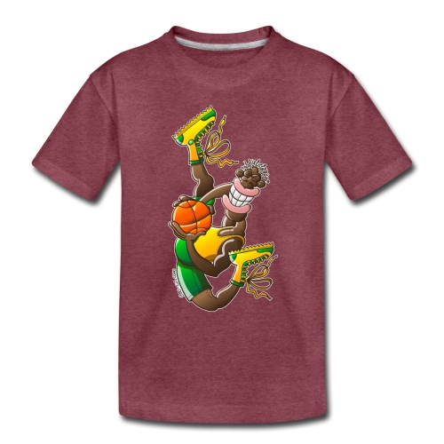 Acrobatic basketball player performing a high jump - Toddler Premium T-Shirt