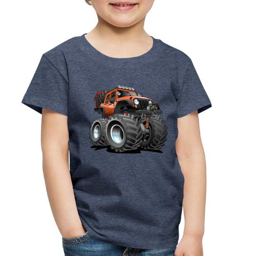 Off road 4x4 orange jeeper cartoon - Toddler Premium T-Shirt