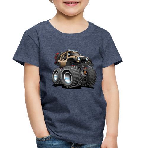 Off road 4x4 desert tan jeeper cartoon - Toddler Premium T-Shirt