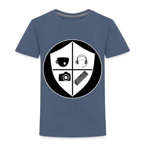 Punk Who Drinks Tea Crest (Inverted) - Toddler Premium T-Shirt
