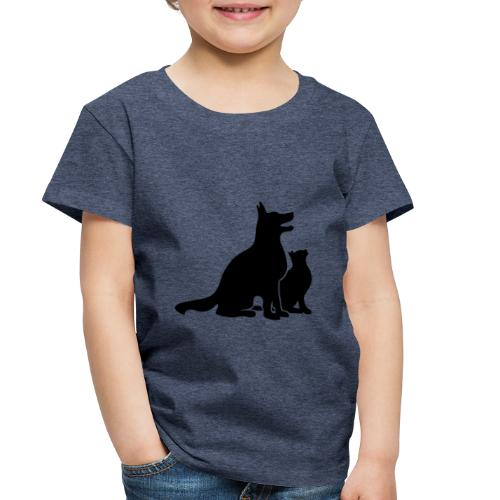 Dog and Cat Best Friends - Toddler Premium T-Shirt