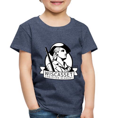WCA Logo banner black line white fill - Toddler Premium T-Shirt
