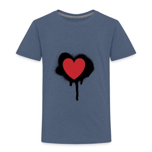 painted heart valentines day design - Toddler Premium T-Shirt