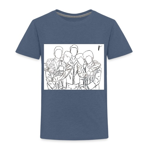 Why Dont We Outline In White - Toddler Premium T-Shirt