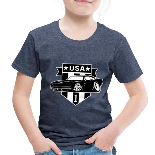 Classic Car with USA 1 Shield - Toddler Premium T-Shirt