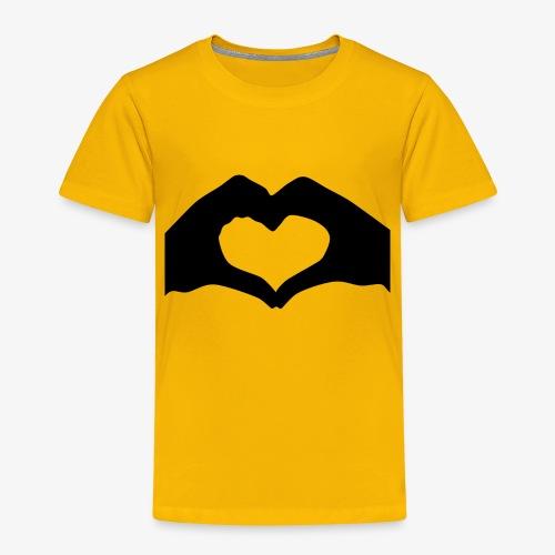 Silhouette Heart Hands   Mousepad - Toddler Premium T-Shirt