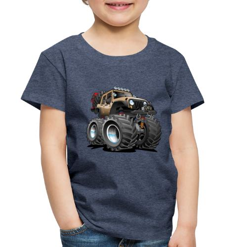 Off road 4x4 desert tan jeeper cartoon - Toddler Premium T-Shirt