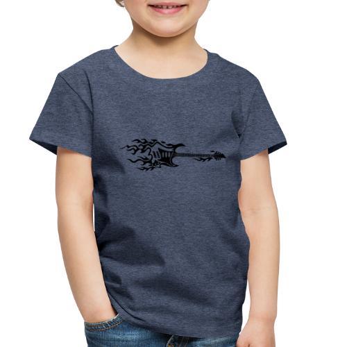 Electric Guitar Fire Illustration - Toddler Premium T-Shirt