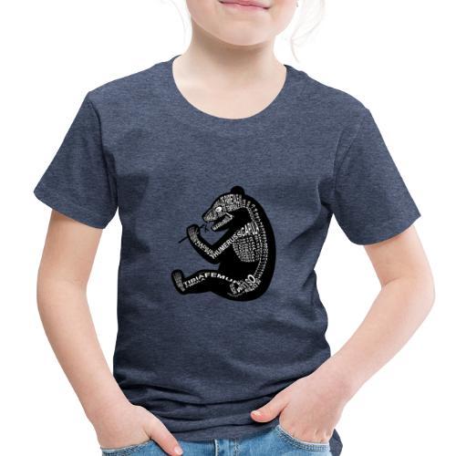 Skeleton Panda - Toddler Premium T-Shirt