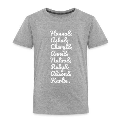 #MathsGals for Australia Fire Relief (White Text) - Toddler Premium T-Shirt