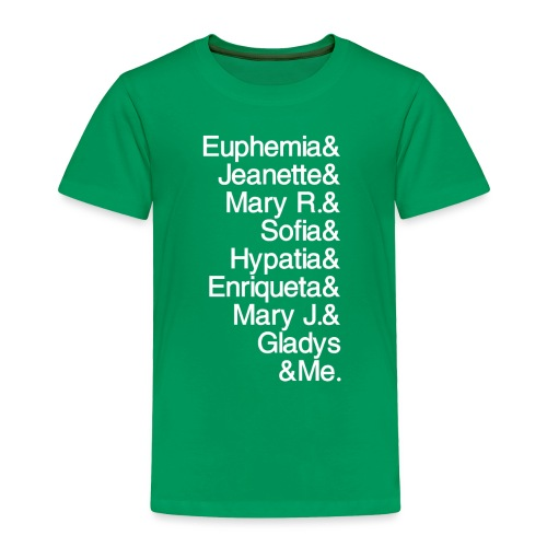 Math Gals 1sts &Me with #MathGals hashtag - Toddler Premium T-Shirt