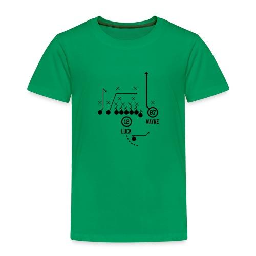 X O Andrew Luck to Reggie Wayne - Toddler Premium T-Shirt