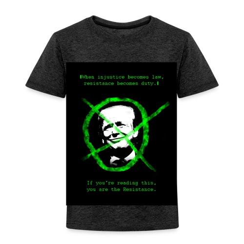 Anti Donald Trump Resistance Election 2016 T-shirt - Toddler Premium T-Shirt