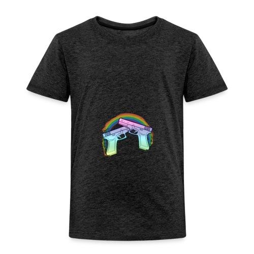 Rainbow guns - Toddler Premium T-Shirt