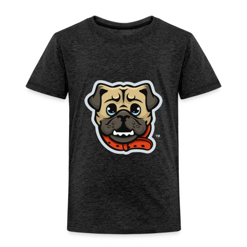 Pug_Mascot_WhiteBG - Toddler Premium T-Shirt