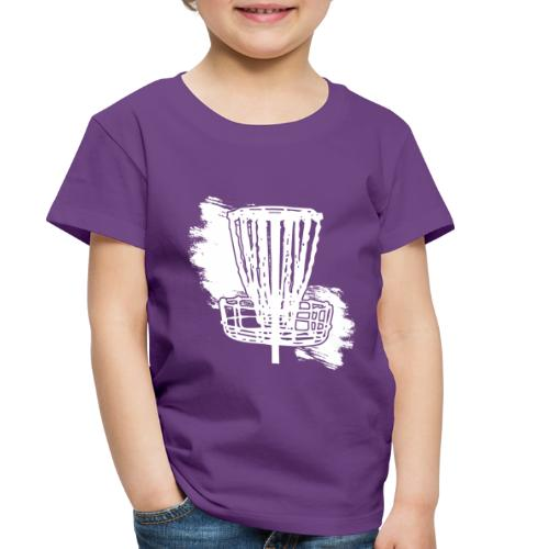 Disc Golf Basket White Print - Toddler Premium T-Shirt