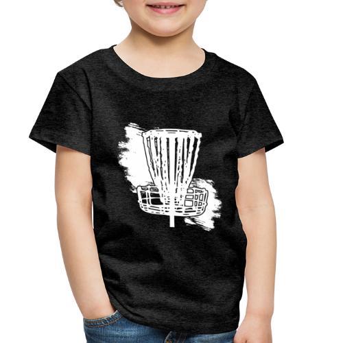Disc Golf Basket White Print - Toddler Premium T-Shirt