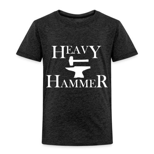 Heavy Hammer Bold - White - Toddler Premium T-Shirt
