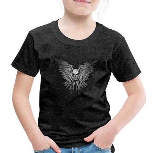 Classic Distressed Skull Wings Illustration - Toddler Premium T-Shirt