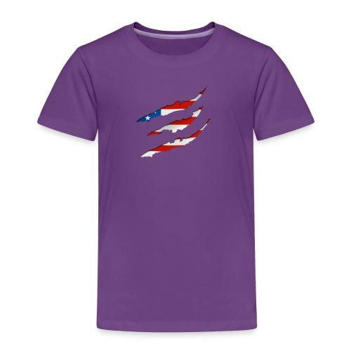 3D American Flag Claw Marks T-shirt for Men - Toddler Premium T-Shirt