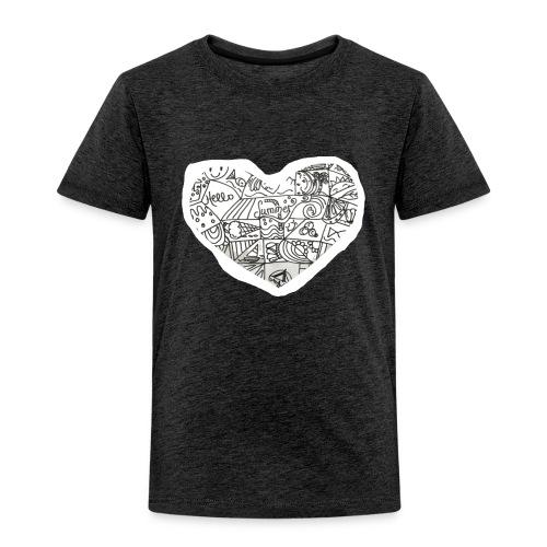 Summer Heart Doodle Art Design - Toddler Premium T-Shirt