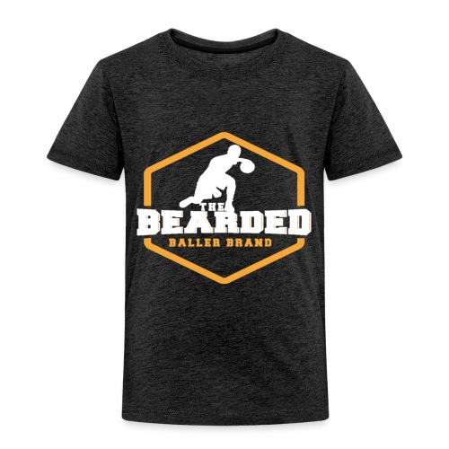 The Bearded Baller Brand White and Gold - Toddler Premium T-Shirt