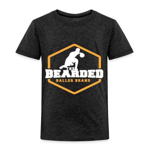 The Bearded Baller Brand White and Gold - Toddler Premium T-Shirt