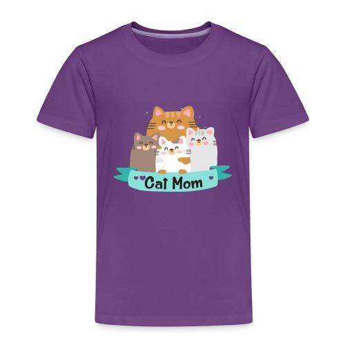Cat MOM, Cat Mother, Cat Mum, Mother's Day - Toddler Premium T-Shirt
