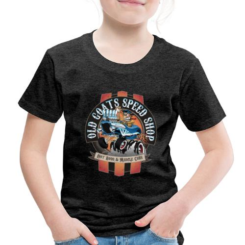 Old Goats Speed Shop Vintage Car Sign Cartoon - Toddler Premium T-Shirt