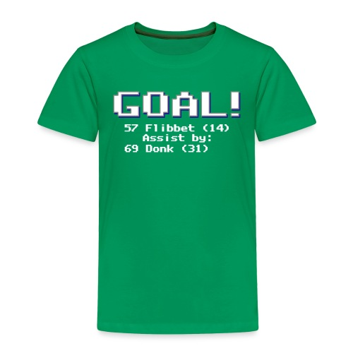 Buzz Flibbet Goal Assisted by Mark Donk - Toddler Premium T-Shirt