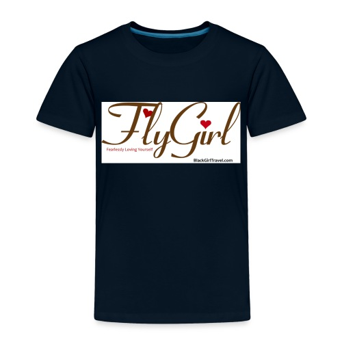 FlyGirlTextGray jpg - Toddler Premium T-Shirt